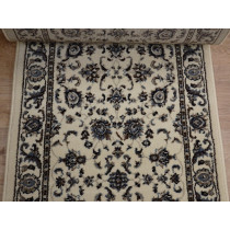 Alba 1426 Ivory Roll Runner Remnant 26in x 1 Ft Sold by The Foot