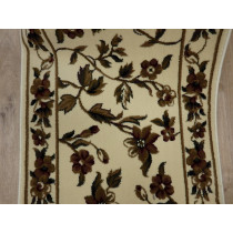 Cambridge 7331 Floral Ivory 27in x 1 Roll Runner Remnant Sold By the Foot