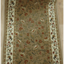 Como 1593 Beige Roll Runner Remnant Sold By The Foot 26in x 1 FT