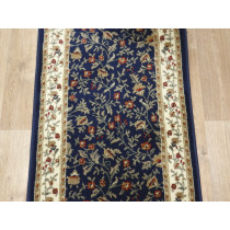 Como 1593 Navy 26 In x 1 Ft Roll Runner Remnant Sold by the Foot